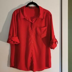🔥2 for $22 - Suzy Shier, Red blouse size L